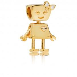 Pandora Shine 767141EN23 Charm Bella Bot Sterling-Silber 18-K Gold