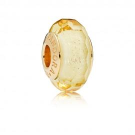 Pandora Shine 767647 Charm Golden Faceted Glass Silber 18-K Gold