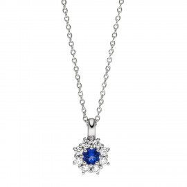 Viventy 783382 Halskette mit Anhänger Blau Topaz Zirkonia Silber 45 cm