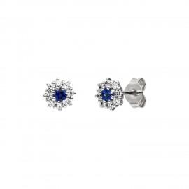 Viventy 783384 Ohrstecker Damen Blau Topaz Zirkonia Sterling-Silber