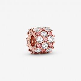 Pandora Rose 788487C01 Charm Rosafarbenes und Klares Funkelndes