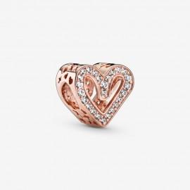 Pandora Rose 788692C01 Charm Funkelndes Freihand-Herz