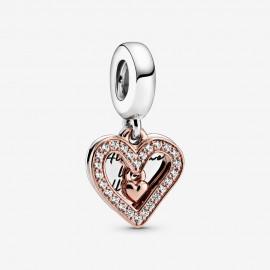 Pandora Rose 788693C01 Charm-Anhänger Funkelndes Freihand-Herz
