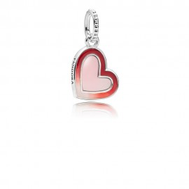 Pandora 797820ENMX Charm Anhänger Asymmetric Heart of Love Silber