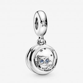 Pandora 798398NBCB Charm-Anhänger Always by Your Side Owl Sterling Silber