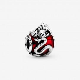 Pandora Disney 798632C01 Charm Mulan Mushu Rot Sterling-Silber