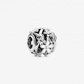 Pandora 798772C01 Charm Weißes Gänseblümchen Silber