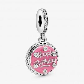 Pandora 798888C01 Charm-Anhänger Rosafarbene Geburtstagstorte Silber