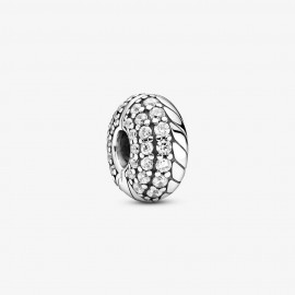 Pandora 799089C01 Clip Charm Damen Pavé Schlangengliedermuster Silber