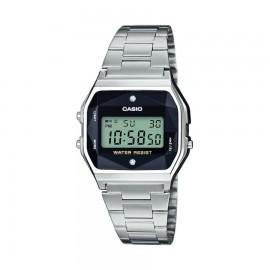 Casio A158WEAD-1EF Unisex-Uhr Vintage Iconic Quarz Edelstahl-Armband