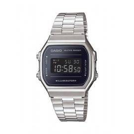 Casio A168WEM-1EF Unisex-Uhr Vintage Iconic Quarz Edelstahl-Armband
