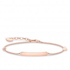 Thomas Sabo A1976-416-40 Armband Classic Herz Infinity Roségold Vergoldet