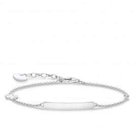 Thomas Sabo A1977-051-21 Armband Damen Kleeblatt Weißer Stein Silber