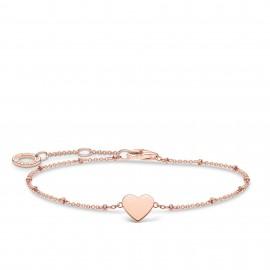 Thomas Sabo A1991-415-40 Armband Damen Herz Kugeln Silber Rosé Vergoldet