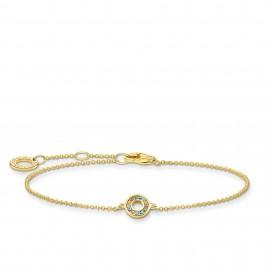 Thomas Sabo A2000-488-7 Armband Damen mit Bunten Steinen Silber Vergoldet