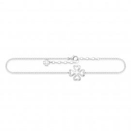 Thomas Sabo AK0006-001-21 Fusskette Damen Kleeblatt Sterling-Silber 27 cm
