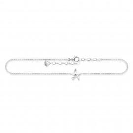 Thomas Sabo AK0008-001-21 Fusskette Damen Seestern Sterling-Silber 27 cm