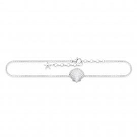 Thomas Sabo AK0009-001-21 Fusskette Damen Muschel Sterling-Silber 27 cm