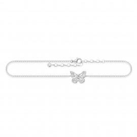 Thomas Sabo AK0011-051-14 Fusskette Damen Schmetterling Silber 27 cm