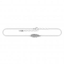 Thomas Sabo AK0013-637-21 Fusskette Damen Feder Sterling-Silber 27 cm