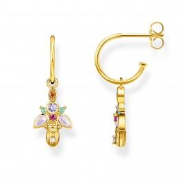 Thomas Sabo CR651-488-7 Ohrringe Creolen Damen Käfer Silber Vergoldet