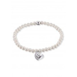 Engelsrufer ERB-HEARTWING-PE Armband Süsswasser-Perlen mit Herzflügel Silber
