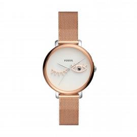Fossil ES4414 Damen-Uhr Jacqueline Analog Quarz mit Milanaise-Band Ø 36 mm