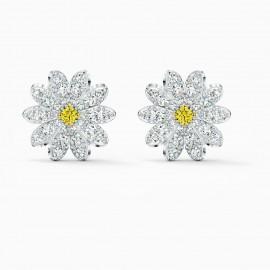 Swarovski 5518145 Ohrstecker Damen Eternal Flower Gelb Silber-Ton