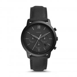 Fossil FS5503 Herren-Uhr Neutra Chronograph Quarz mit Leder-Band
