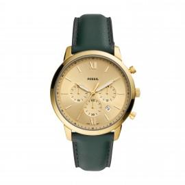 Fossil FS5580 Herren-Uhr Neutra Chronograph Quarz mit Leder-Band Ø 44 mm