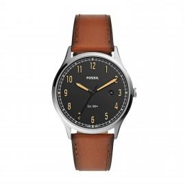 Fossil FS5590 Herren-Uhr Forrester Analog Quarz mit Leder-Band Ø 42 mm