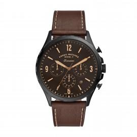 Fossil FS5608 Herren-Uhr Forrester Chronograph Quarz Leder-Armband