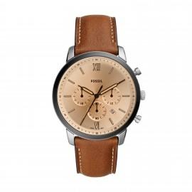 Fossil FS5627 Herren-Uhr Garrett Chronograph Quarz mit Leder-Band Ø 44 mm