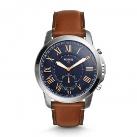 Fossil FTW1122 Hybrid Smartwatch Herren Grant mit Leder-Band
