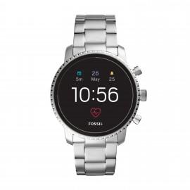 Fossil FTW4011 Smartwatch Herren Q Explorist HR 4. Generation mit Edelstahl-Band