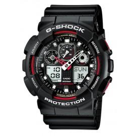 Casio GA-100-1A4ER Herren-Uhr G-Shock Classic Chronograph Resin-Armband
