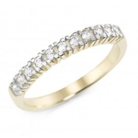 Karat 93006140 Ring Damen Gelbgold 375/- Bicolor Zirkonia Weiss