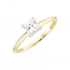 Karat 93011440520 Ring Princess Cut Schliff Gelb-Gold Zirkonia Gr. 52