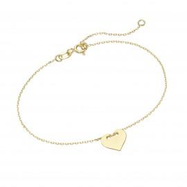 Karat 92013940190 Armband Damen Herz 375/- Gelb-Gold