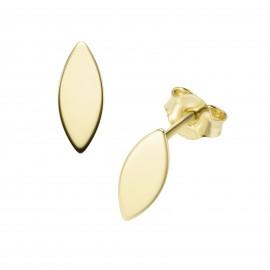 Karat 94032240 Ohrringe Ohrstecker Navette 375/- Gelb-Gold