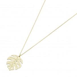 Karat 99049740450 Halskette-Anhänger Damen Monstera Blatt 375/- Gelb-Gold
