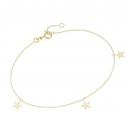 Karat 92019940190 Armband Damen 3 Sterne 375/- Gelb-Gold