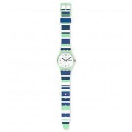 Swatch GG711 Armband-Uhr Sky Zebra Analog Quarz Silikon-Armband