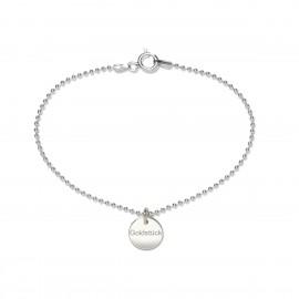Beka & Bell 5022 Armband Lieblingsstück Goldstück Silber 19 cm