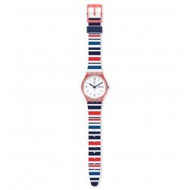 Swatch GR712 Armband-Uhr Sea Barcode Analog Quarz Silikon-Armband
