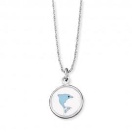 Engelsrufer HEN-GLAS-07FREEDOM Halskette mit Anhänger Delfin Silber