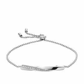 Fossil JF03016040 Armband Damen Classics Twisted Plaque Edelstahl Silber-Ton
