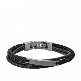 Fossil JF03185793 Armband Herren Vintage Casual Edelstahl Leder