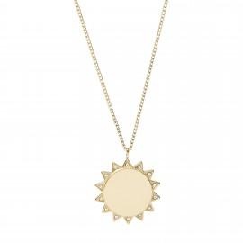 Fossil JF03380710 Halskette mit Anhänger Damen Sun Edelstahl Gold-Ton