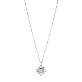 Fossil JF03515040 Halskette mit Anhänger Damen Summer Petals Edelstahl